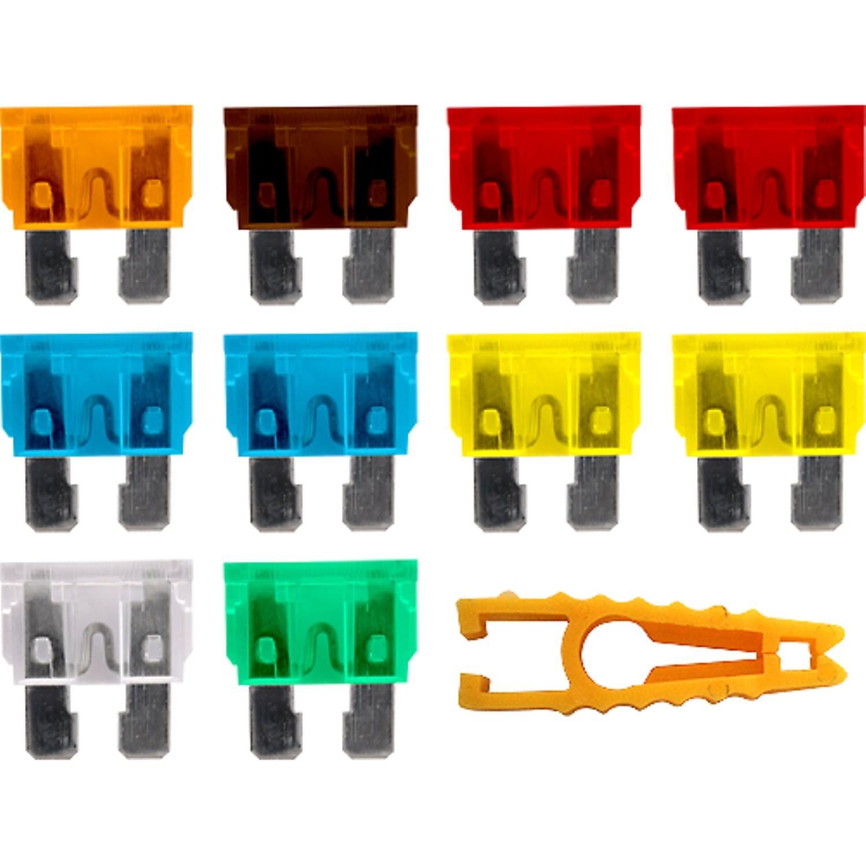 Предохранители флажковые, набор 10шт, с щипцами AutoStandart